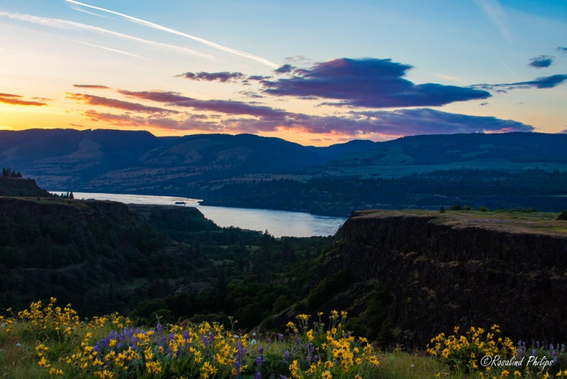 Sunset at Rowena Crest